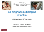 La diagnosi audiologica infantile