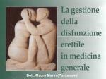 La gestione della disfunzione erettile in medicina