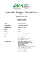 Risultati Cross - Virtus Locarno