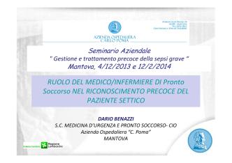 6_ruolo medico ps per sepsi Dario Benazzi