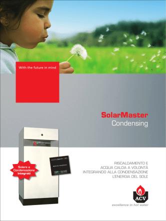 ACV ITALIA depliant caldaia condensazione solar master