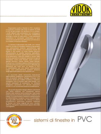 Catalogo VIDOK Sistemi di Finestre in PVC