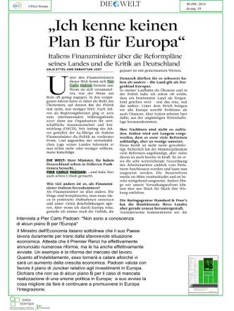 ,,lch kenne keinen Pian B fiir Europa