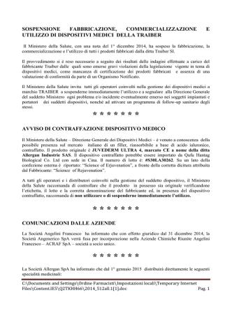 Allegato n. 1