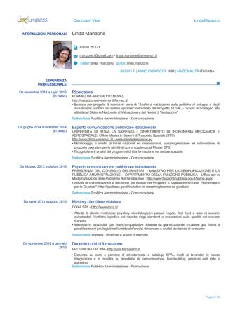 D.ssa Linda Manzone - Dipartimento Funzione Pubblica