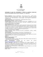 Disciplinare - Comune di Manfredonia