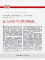 A colloquio con Vito Mangano, Direttore Risorse umane e
