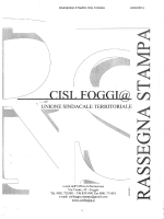 RASSEGNA STAMPA CISL FOGGIA 24/02/2014 1