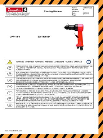 2051479384 CP4444-1 Riveting Hammer