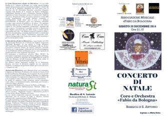 CONCERTO DI NATALE - Associazione musicale Fabio da Bologna