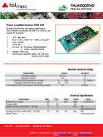 PAUHF005HG with FREESCALE MW6S010NR1 and - Ital