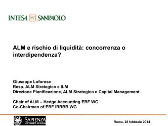 ALM e rischio di liquidità: concorrenza o interdipendenza?