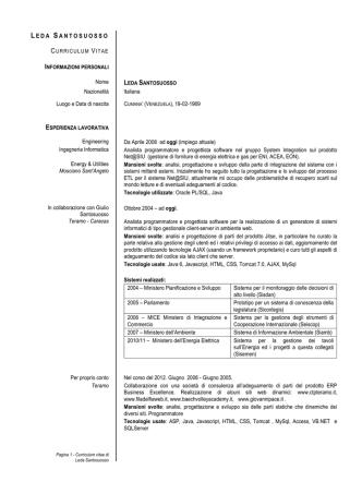 Curriculum Vitae - Leda Santosuosso