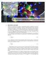 2 — Le basi statistiche della termodinamica