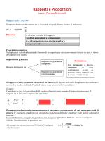 Rapporti e Proporzioni