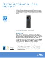 Specifiche tecniche di EMC VNX-F All