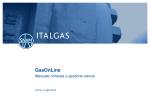 GasOnLine - manuale richiesta e gestione