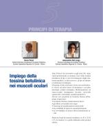 Impiego della tossina botulinica nei muscoli oculari prinCipi Di terapia