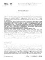 TELECOM comunicato FISTEL e UILCOM