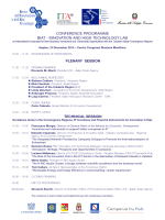 conference programme biat - innovation and high technology lab