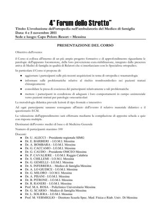 """4° Forum dello Stretto"""""""