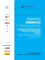 RISCHIO SISMICO E PREVENZIONE