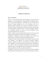 SCHEMA DI CONTRATTO ART. 1