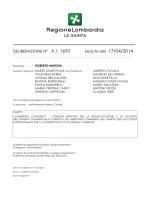 delibera N. 1690 del 17 aprile 2014