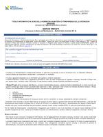 foglio informativo ai sensi della normativa in materia di trasparenza