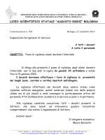 23 Seettembre 14 - Liceo Scientifico Augusto Righi