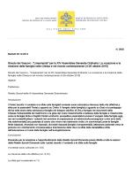 """Sinodo dei Vescovi - """"Lineamenta"""" per la XIV"""