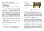 In Prima Pagina - Servi di Maria a Rovato