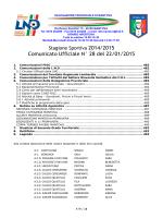 Comunicato Ufficiale N° 28 del 22/01/2015
