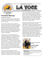 La Voce. - Loggia Glen Cove, OSIA Lodge 1016