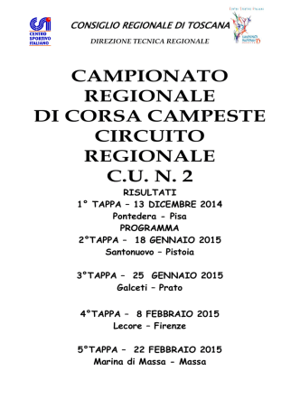 Campionato Regionale Corsa Campestre C.U. N° 2