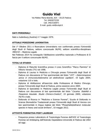 Curriculum - Azienda ULSS 7