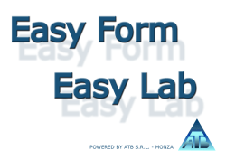 Brochure software EasyForm e EasyLab