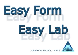 Brochure software EasyForm e EasyLab