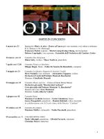 Cartellone BOCCHERINI OPEN 2014