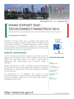 PIANO EXPORT SUD : TECHCONNECT/NANOTECH 2014