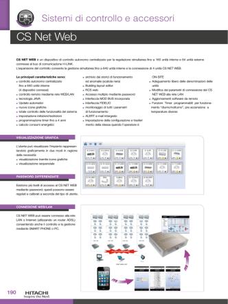 Controllo e Supervisione CS Net Web