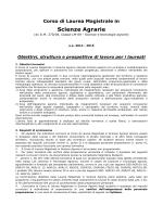 Manifesto del corso - Corsi di Studio del Dipartimento di Scienze