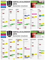 erhalten Sie den aktuellen Abfallkalender 2015 der Gemeinde