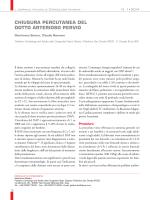 chiusura percutanea del dotto arterioso pervio