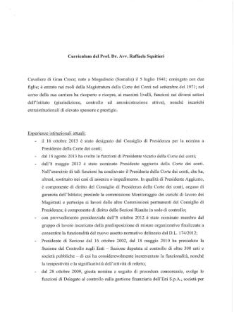 Curriculum del Prof. Dr. Avv. Raffaele Squitieri