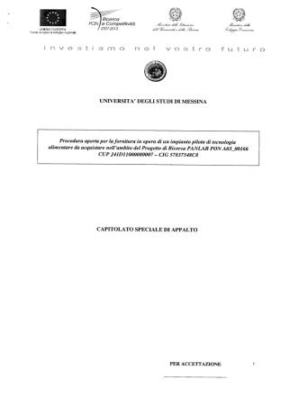 Capitolato Speciale di Appalto - Università degli Studi di Messina