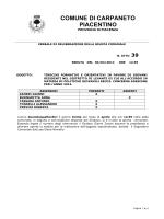 delibera 039 - Comune di Carpaneto Piacentino