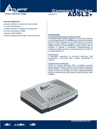 Compact Router ADSL2+