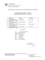 Sessione autunnale di laurea