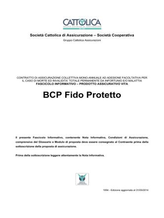 BCP Fido Protetto - Cattolica Banche